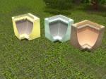 Mighty Mansard Inverted Corner Roof (200 Simoleons) Tile space needed- 3x3