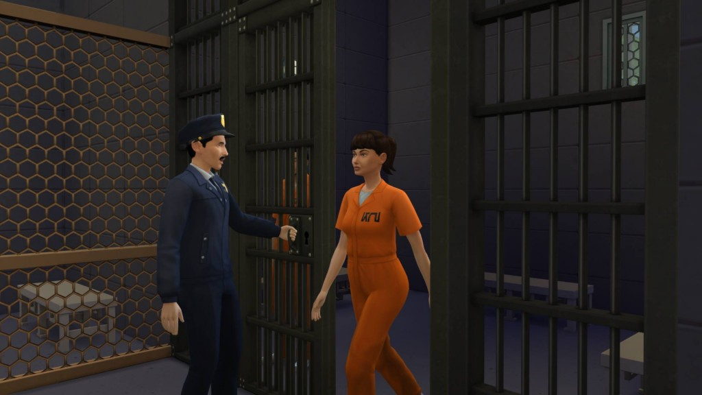 Detective allowing a prisoner out of their cell