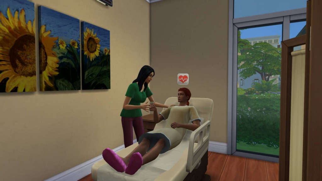 Doctor Bella Goth treating a sick patient